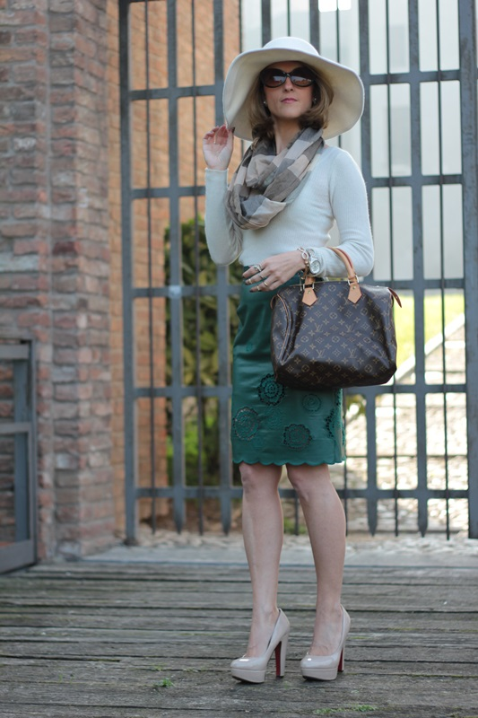 Margaret Dallospedale, Maggie Dallospedlae fashion diary, Fashion blog, Fashion blogger,  fashion tips, how to wear, Outfits, OOTD, Fall outfit, Autumn outfit, Green Leather skirt, 6