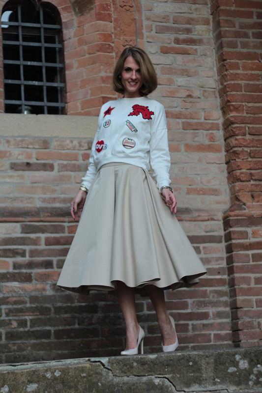 Midi Skirt And Sweatshirt Fashion Tip 78 By Maggie Dallospedale
