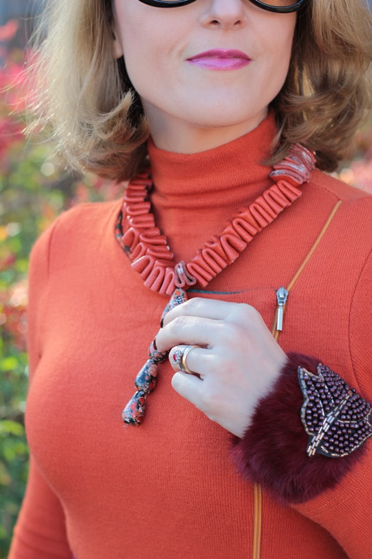 Margaret Dallospedale, Maggie Dallospedlae fashion diary, Fashion blog, Fashion blogger,  fashion tips, how to wear, Outfits, OOTD, Fall outfit, Burgundy and Tangerine outfit, 12