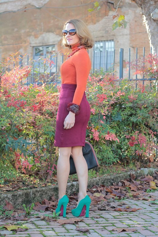 Margaret Dallospedale, Maggie Dallospedlae fashion diary, Fashion blog, Fashion blogger,  fashion tips, how to wear, Outfits, OOTD, Fall outfit, Burgundy and Tangerine outfit, 5