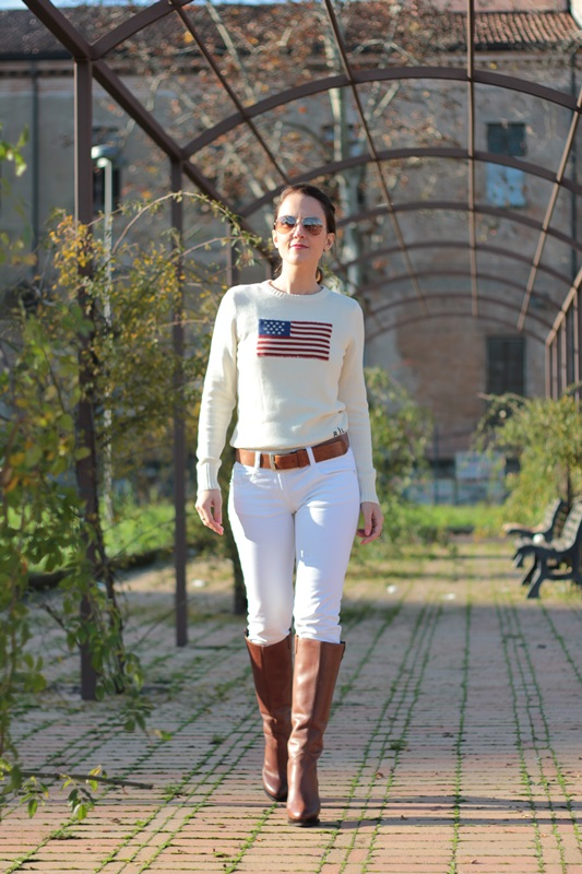 Fashion blogger, Fashion blog, Maggie Dallospedale fashion diary, fashion event, Total white outfit with cognac accessories, 3