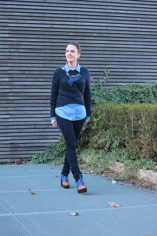 Fashion blogger, Fashion blog, Maggie Dallospedale fashion diary, fashion outfit, All Shades of Blue outfit, 3