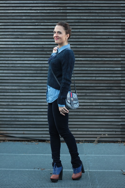 Fashion blogger, Fashion blog, Maggie Dallospedale fashion diary, fashion outfit, All Shades of Blue outfit, 7