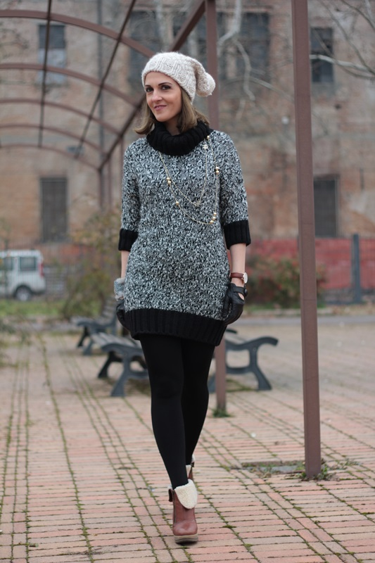 Knitted Dress On My Fashion Blog Winter Outfit By Maggie Dallospedale