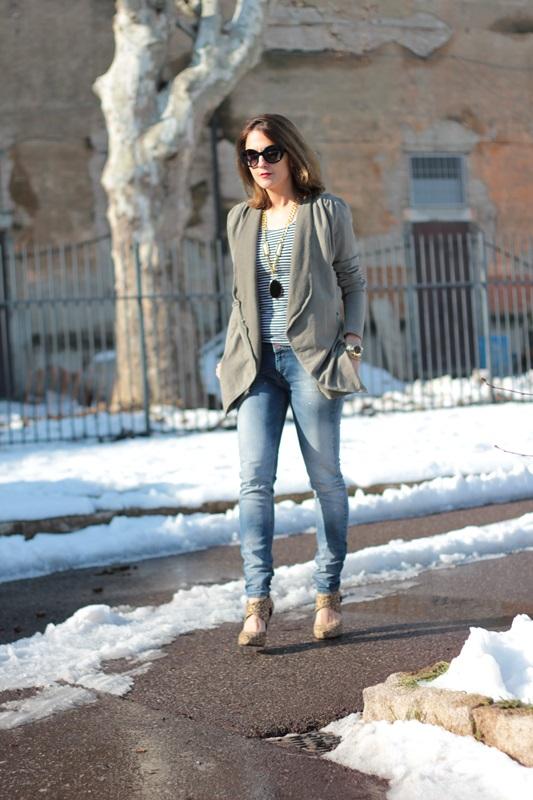 Fashion blogger, Fashion blog, Maggie Dallospedale fashion diary, fashion outfit, Fashion Blogger question, Army Chic Blazer, 3