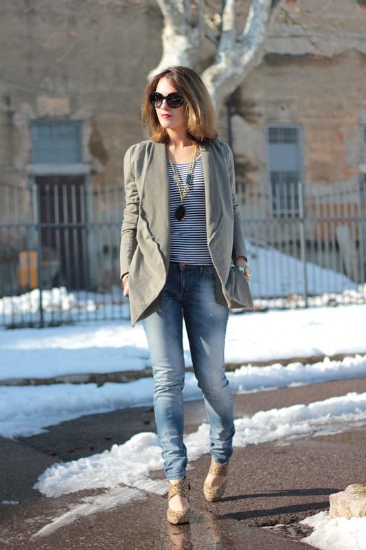 Fashion blogger, Fashion blog, Maggie Dallospedale fashion diary, fashion outfit, Fashion Blogger question, Army Chic Blazer, 7