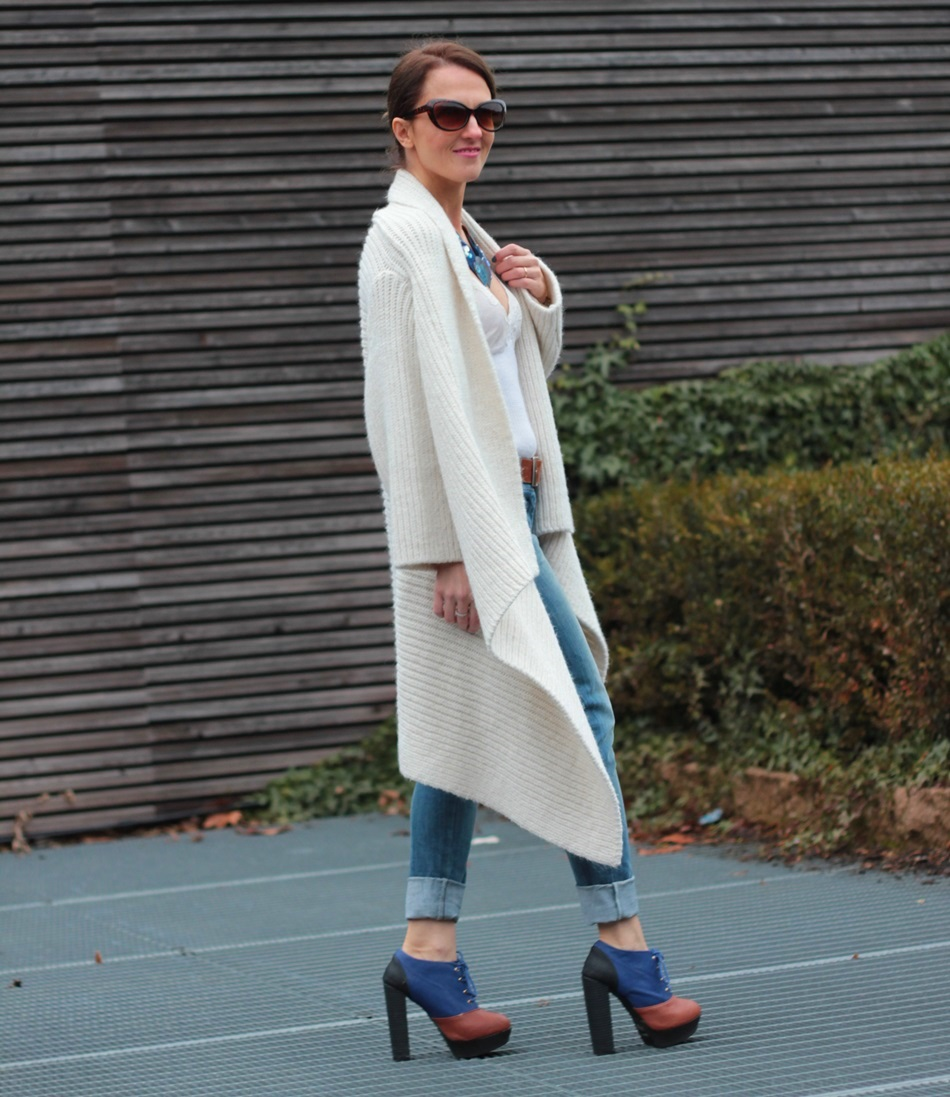 Maxi Cardigan and denim (Winter Outfit - OOTD)