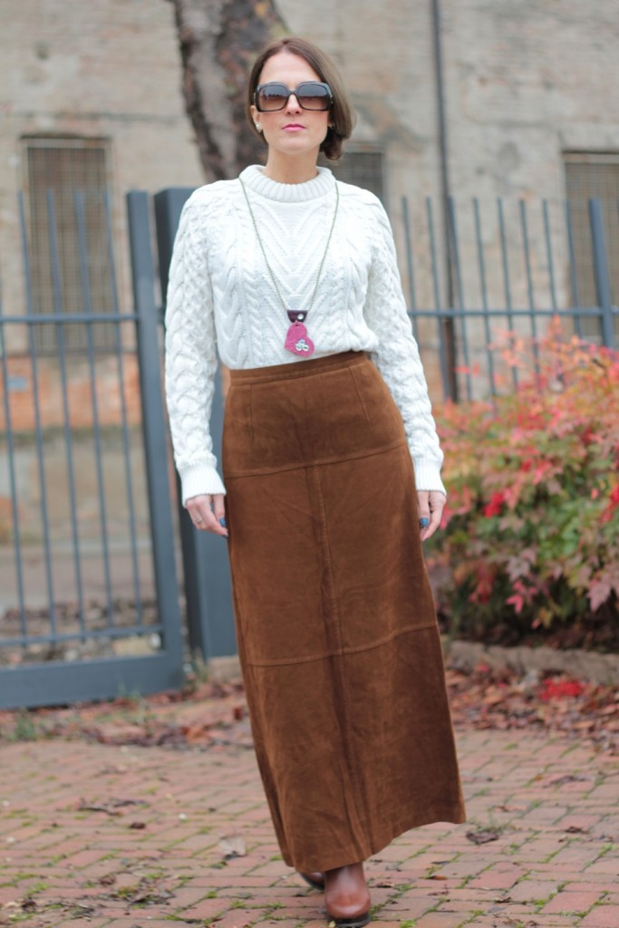 Glam Cowgirls - Suede Long Skirt Western Style-3092