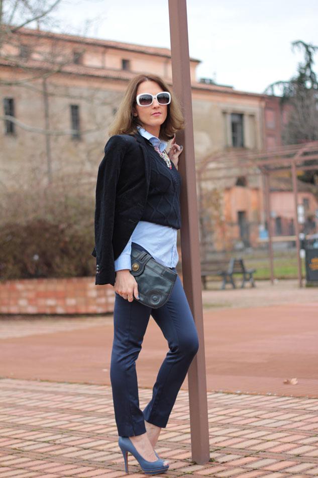 Fashion blogger, Fashion blog, Maggie Dallospedale fashion diary, fashion outfit, Gilet, sfumature di blu, 5
