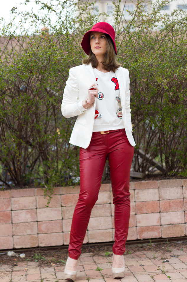 Fashion blogger, Fashion blog, Maggie Dallospedale fashion diary, fashion outfit, Red Leather, 2