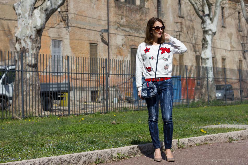 Sweatshirt Jeans Heels 2