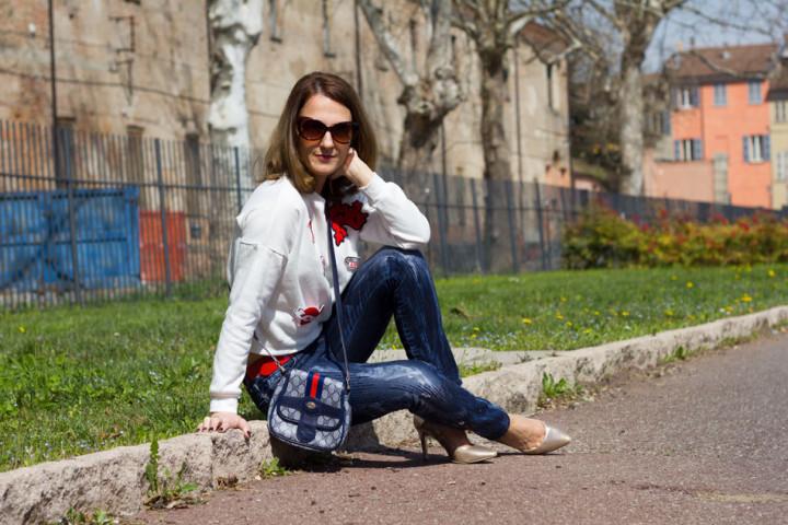 Sweatshirt Jeans Heels 1