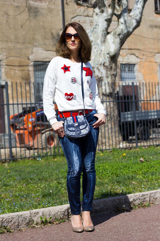 Sweatshirt Jeans Heels 3
