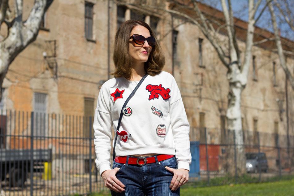 Sweatshirt Jeans Heels 6