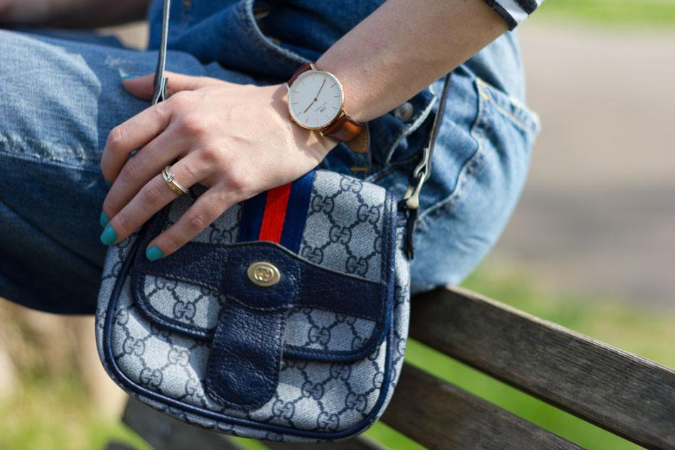 Fashion blogger, Fashion blog, Maggie Dallospedale fashion diary, fashion outfit, Overalls Style, mini bag, Gucci