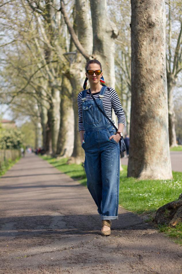 Fashion blogger Maggie Dallospedale  Overalls Style