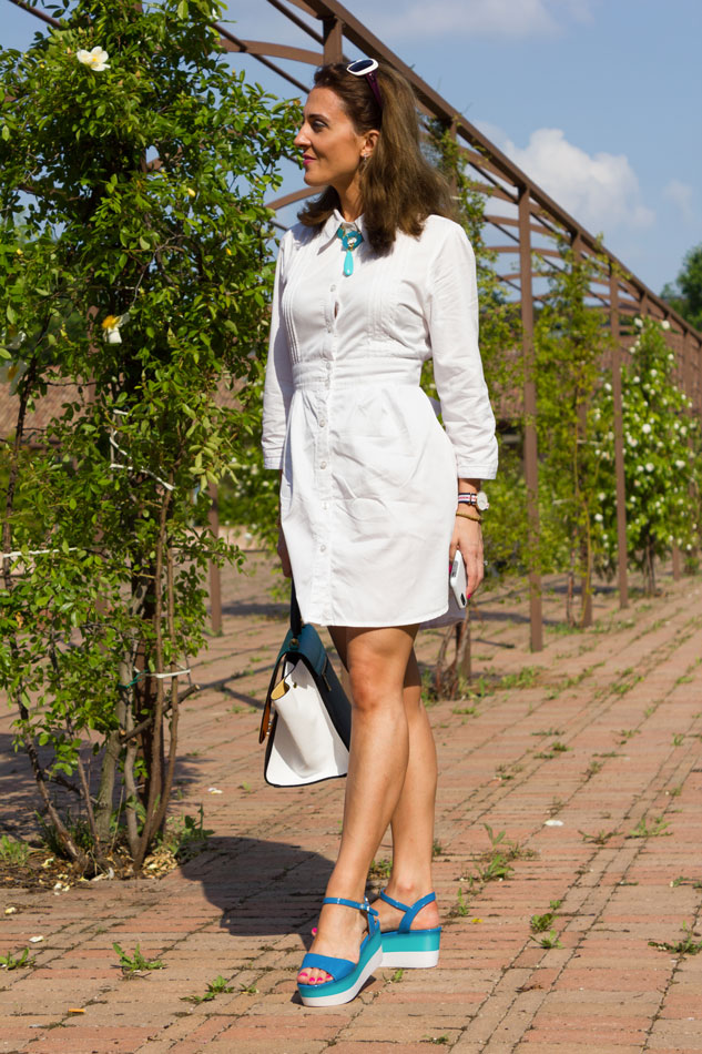 spring outfit white dress