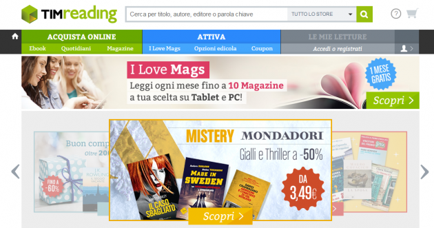Timreading acquistate i vostri ebook magazine online