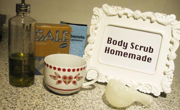 Body scrub homemad