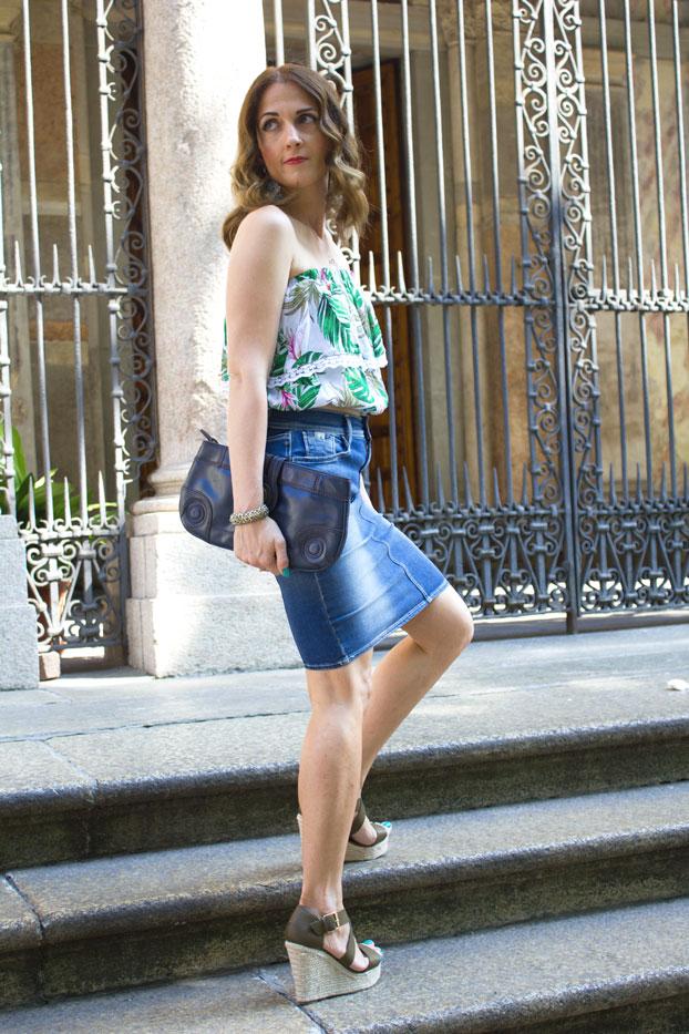 Denim-skirt-summer