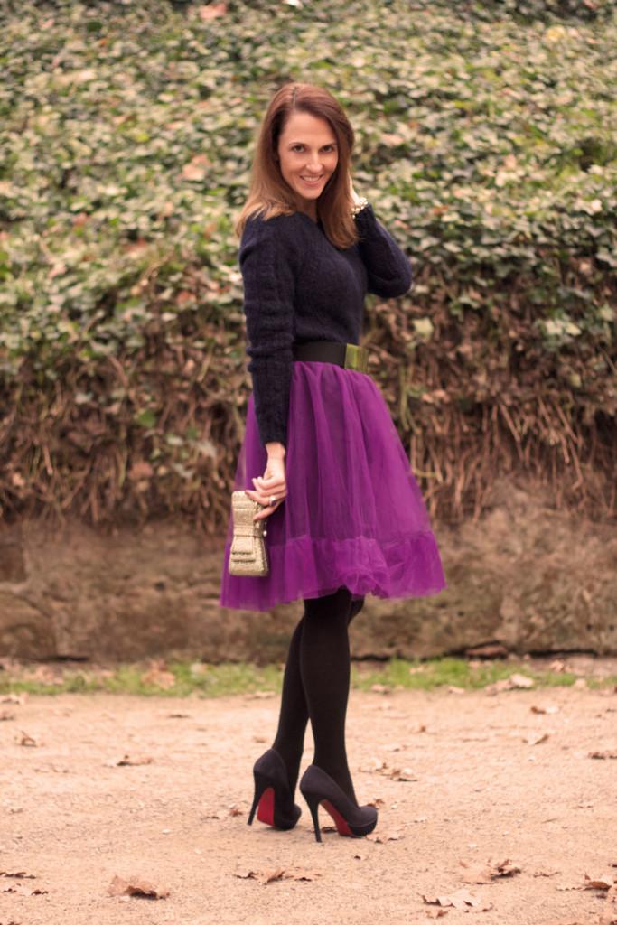 Purple-tulle-skirt