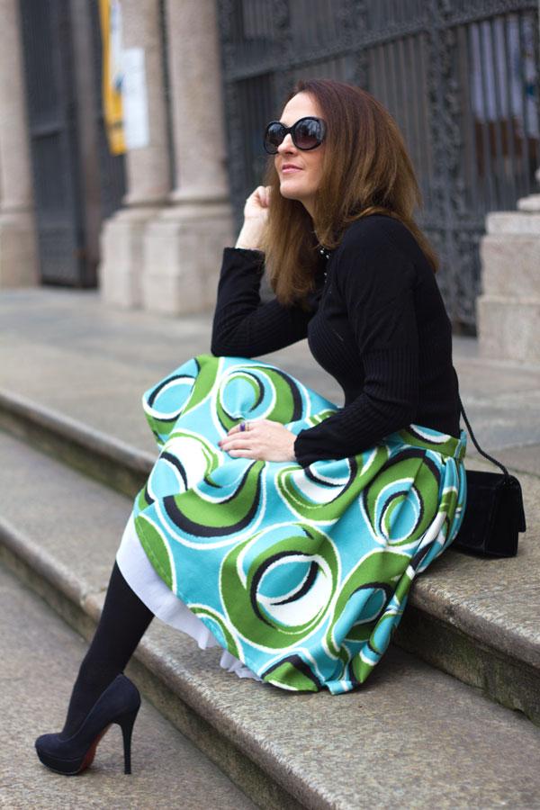 Midi Circle Skirt firmata Sathia per un outfit romantico