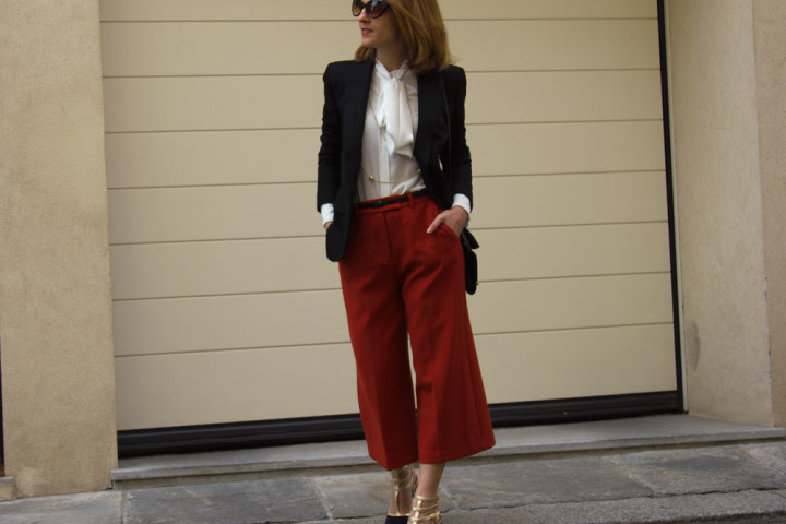 Culottes pants outfit of the day (spring look)