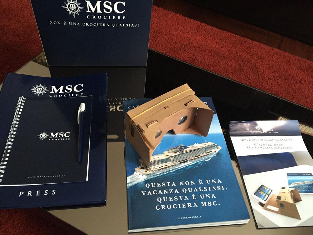 Catalogo Immersivo 360 VR presentato da MSC Crociere
