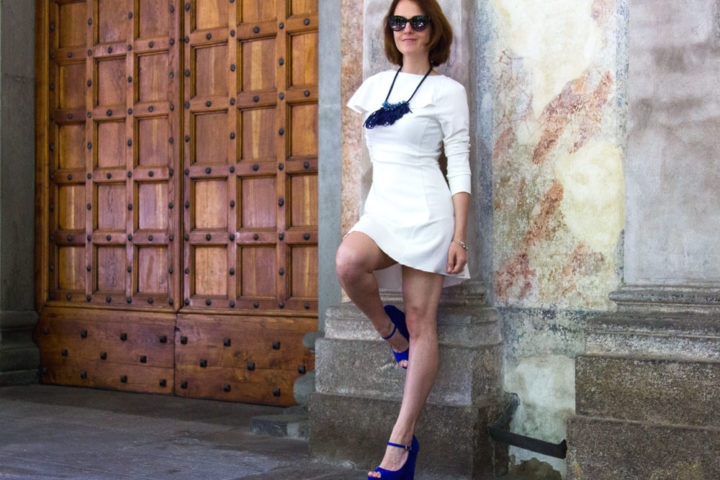 Royal blue platform heels by Pittarello shoes