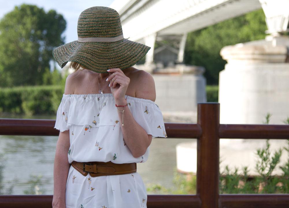 Off Shoulder dress and Python sandals (Spring outfit)