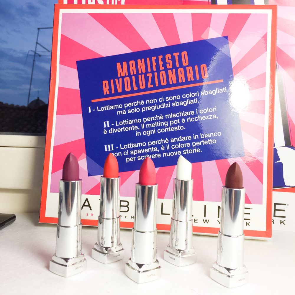 Maybelline Lipstick Revolution for a perfect lip art class