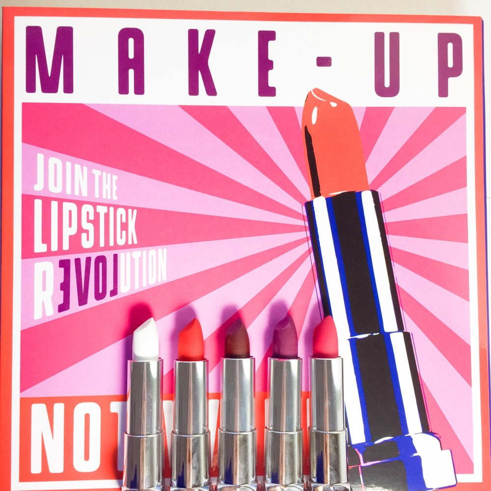 Maybelline Lipstick Revolution for a perfect lip art class