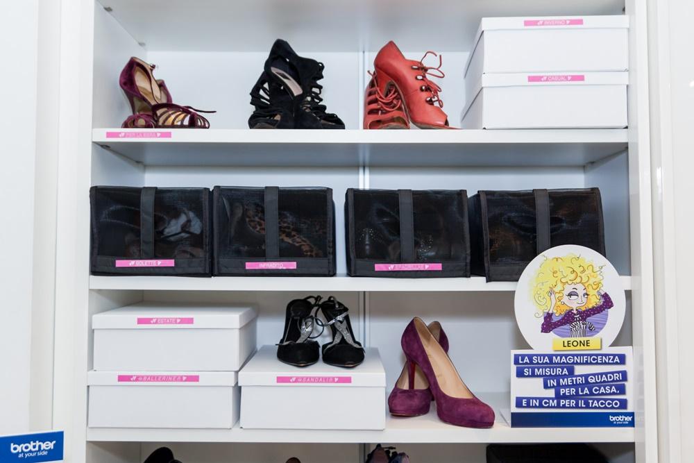 Organizzare scarpe, ordine scarpe
