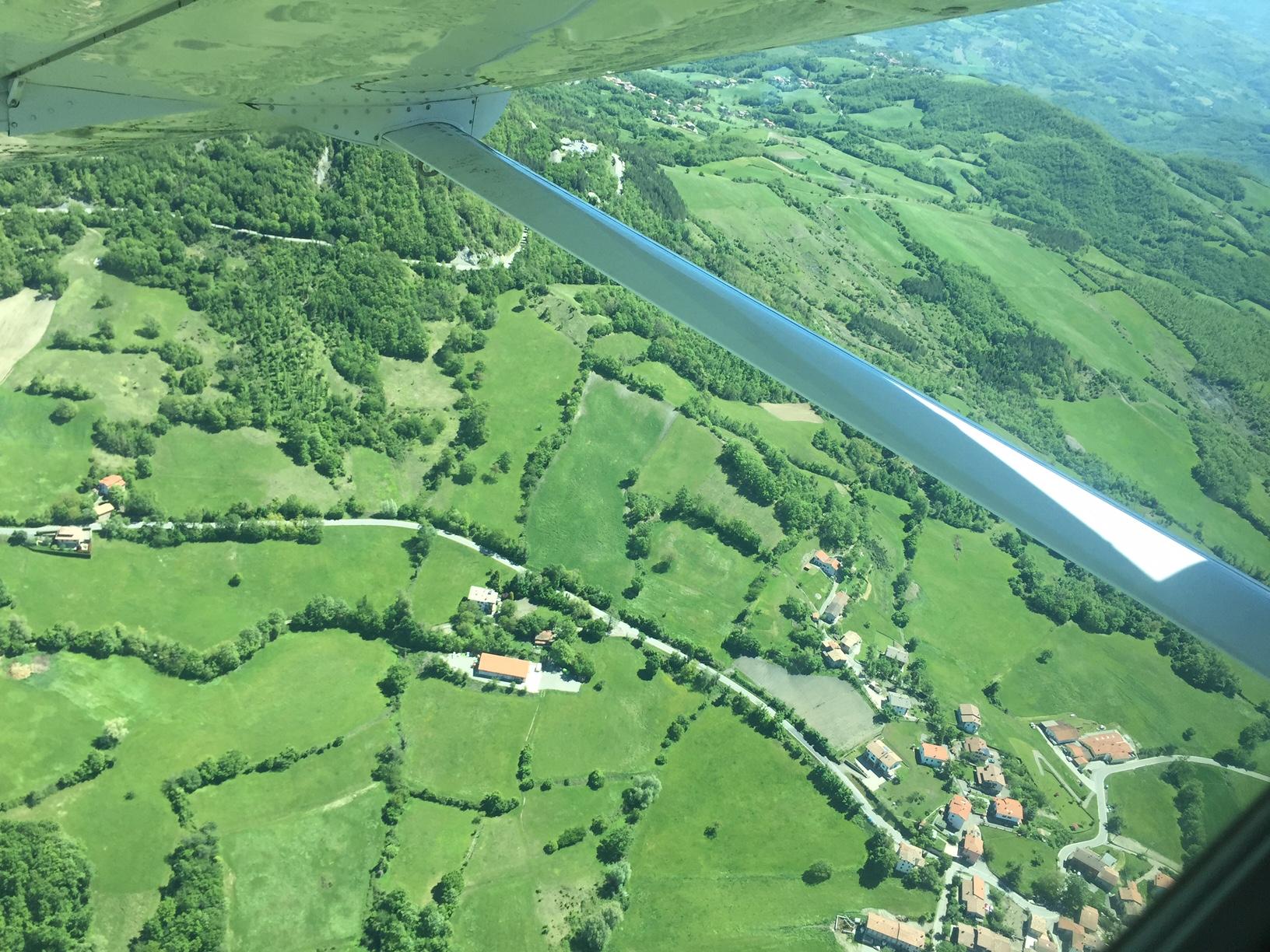 Vista dall'alto di Reggio Emilia