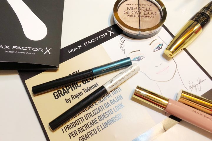 Look Graphic Glow by Rajan Tolomei, make-up esclusivo di Max FactorX