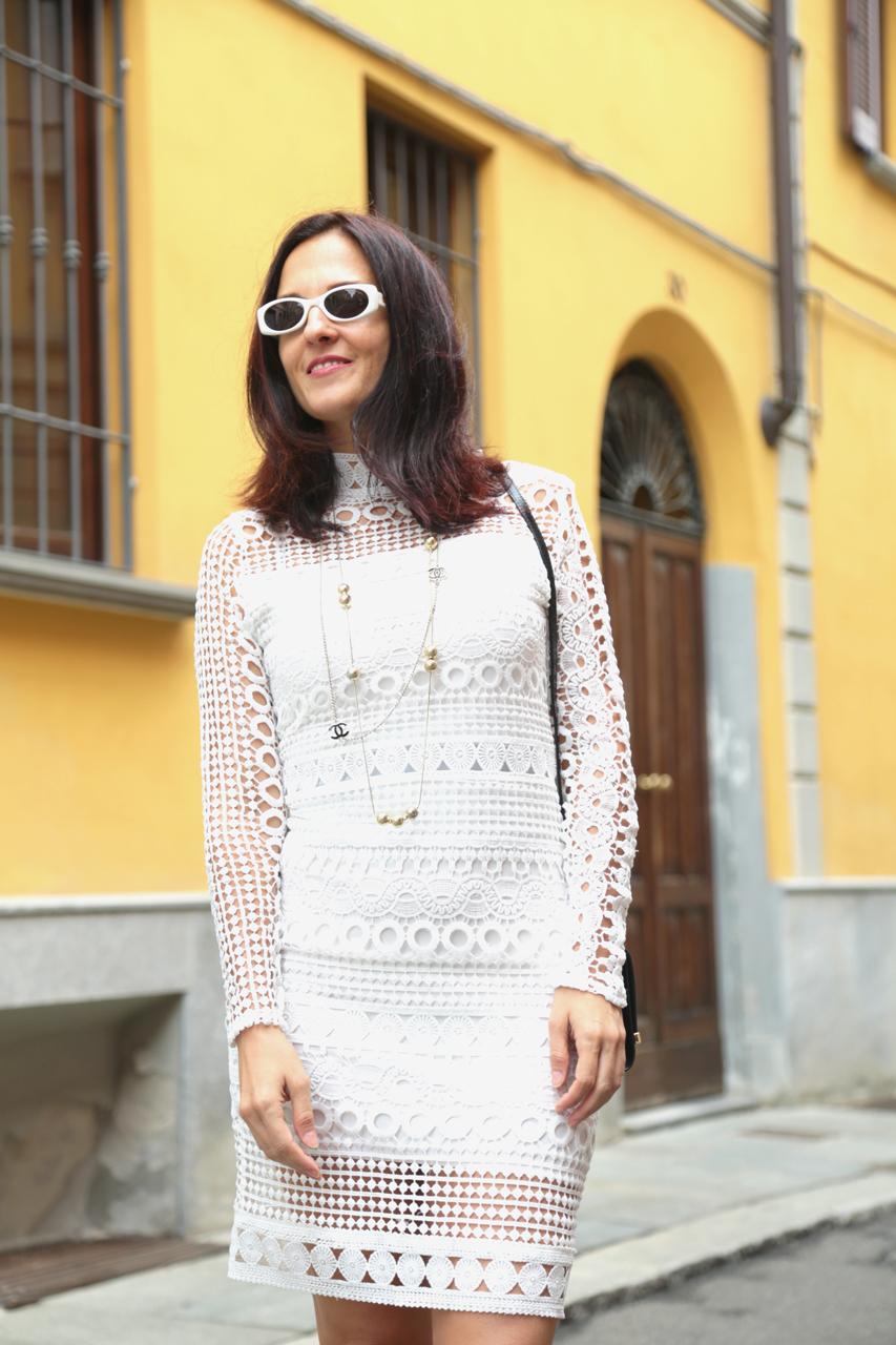 maggie dallospedale, fashion blogger, Italian fashion blogger, US fashion blogger, Venezuela Fashion blogger, white lace dress, vestido blanco de encaje, abito bianco i
