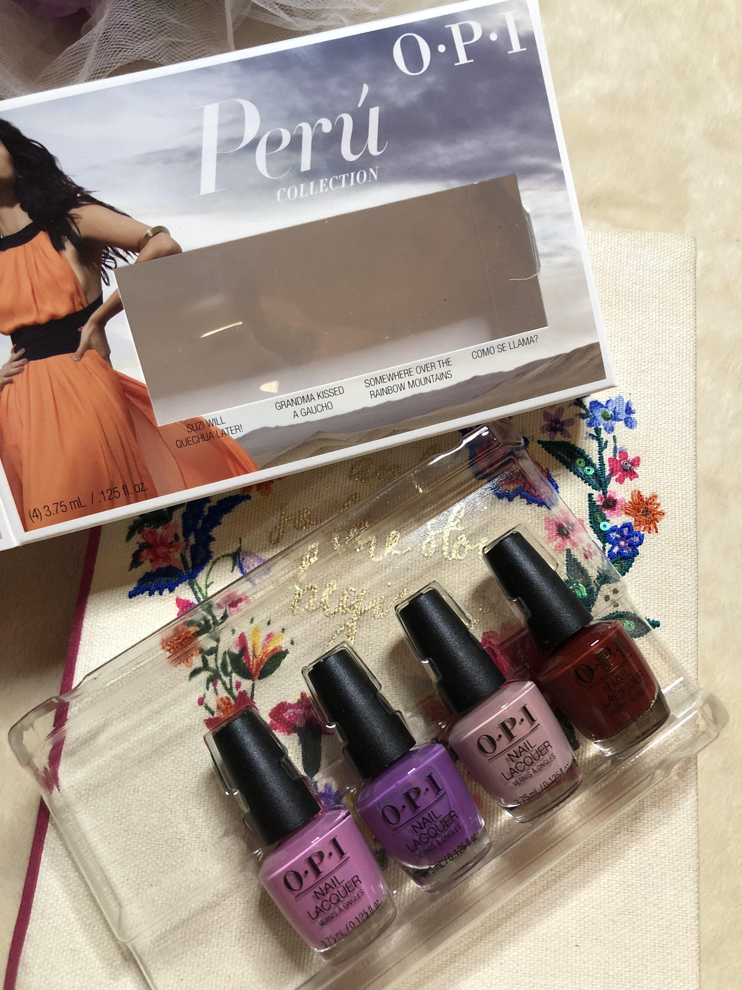 Perù Collection: la nuova collezione di smalti Opi (quattro nuance adorabili)