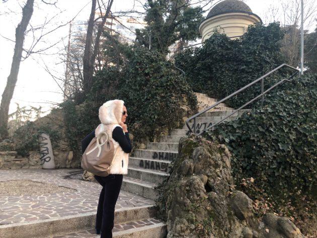Roberta di Camerino backpack, abbiamo usato la borsa trasformista come zaino per una bella passeggiata