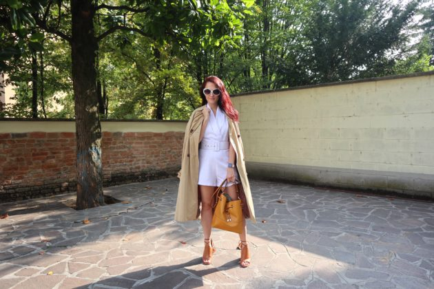 White Romper: come indossare una tuta bianca in autunno