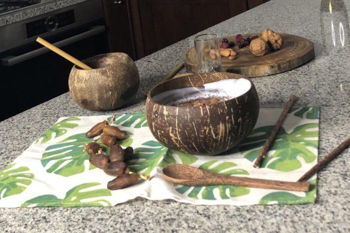 Coconut bowl, gemma tropicale eco-sostenibile e completamente naturale
