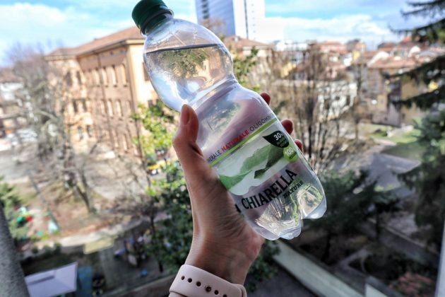 Bottiglia Chiarella 100% riciclabile (l'acqua che piace alla natura)