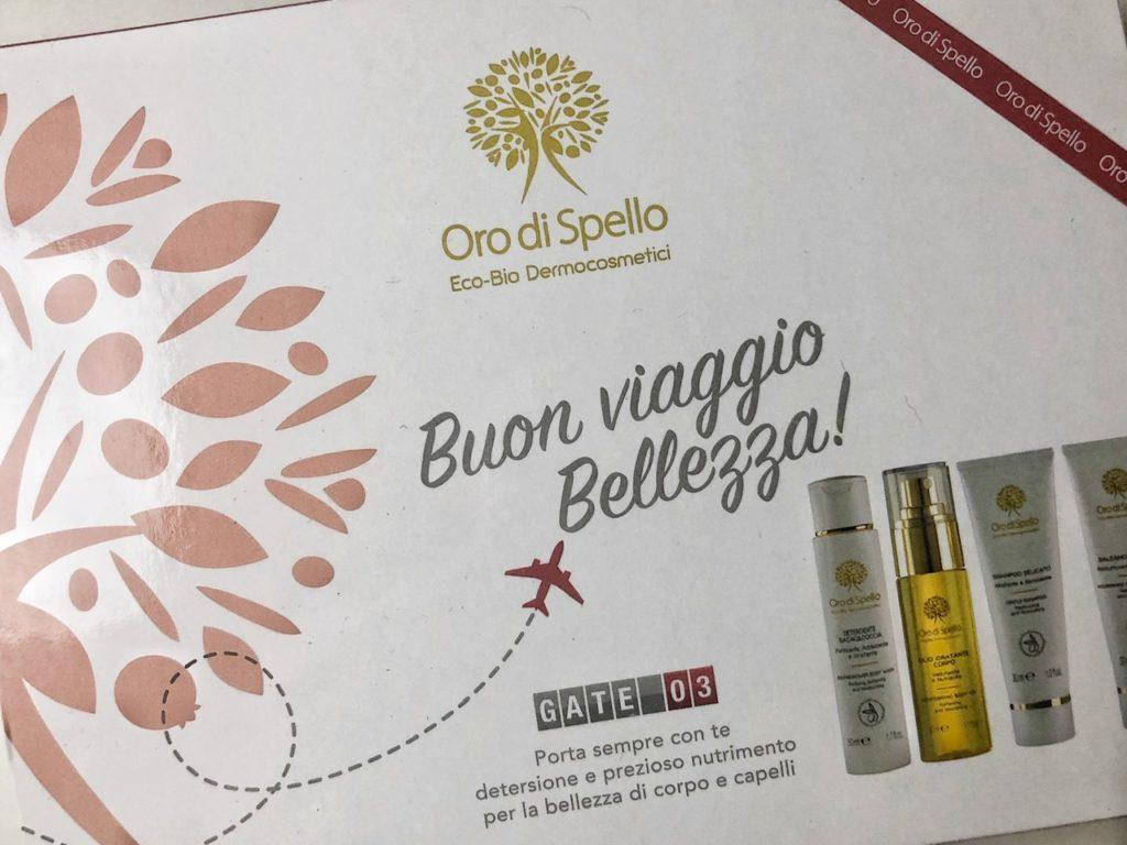 Travel Kit Oro di Spello: gli eco-bio dermacosmetici essenziali da viaggio