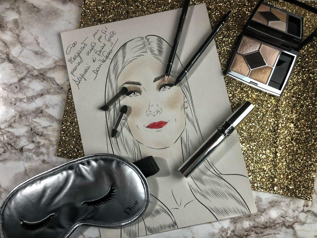 Trucco perfetto per Capodanno firmato Dior e creato da Davide Frizzi